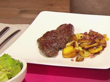 Entrecôte mit Bratkartoffeln und Salat (Mario Basler) - Rezept - Bild Nr. 2