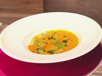 Krabben-Gemüse-Crème-Suppe mit mediterranem Eierstich (Blick in Trettls Topf) - Rezept - Bild Nr. 2
