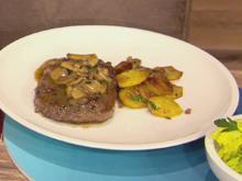 Entrecôte mit Bratkartoffeln und Salat (Blick in Trettls Topf) - Rezept - Bild Nr. 2