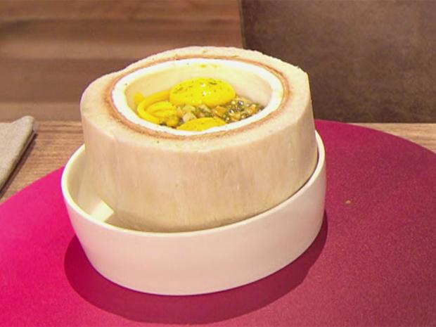 Gefüllte Kokosnuss mit Matcha (Blick in Trettls Topf) - Rezept - Bild Nr. 2