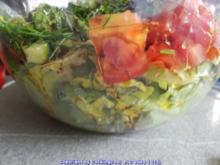 Einfach nur Salat (naja alles aus dem Garten) mit Brot - Rezept - Bild Nr. 5843