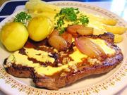 Rindersteak mit Knoblauch und Hollandaise-Spargel - Rezept - Bild Nr. 5843