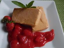 """Aprikosen-Parfait mit """"Schwipps"""" und Erdbeer-Soße - Rezept - Bild Nr. 5845"""