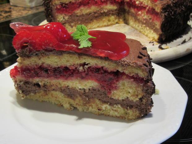 Backen Himbeer Schoko Creme Torte Rezept Kochbar De