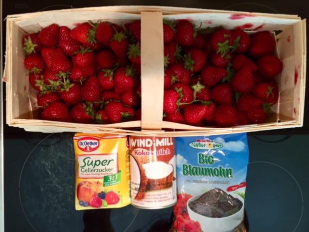 Erdbeer Kokos Mohn Marmelade - Rezept - Bild Nr. 5887