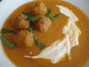Möhren-Linsen-Suppe mit Mettbällchen - Rezept - Bild Nr. 5886