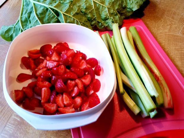 Konfitüre von Rhabarber mit Erdbeeren und Vanille - Rezept - Bild Nr. 5901