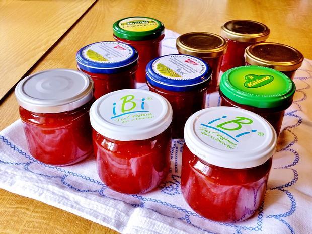 Konfitüre von Rhabarber mit Erdbeeren und Vanille - Rezept - Bild Nr. 5907