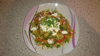 Rezept: Zoodles mit Hähnchenbrust