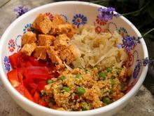 Protein-Bowl mit Erbsen, Tofu und Quinoa - Rezept - Bild Nr. 6322