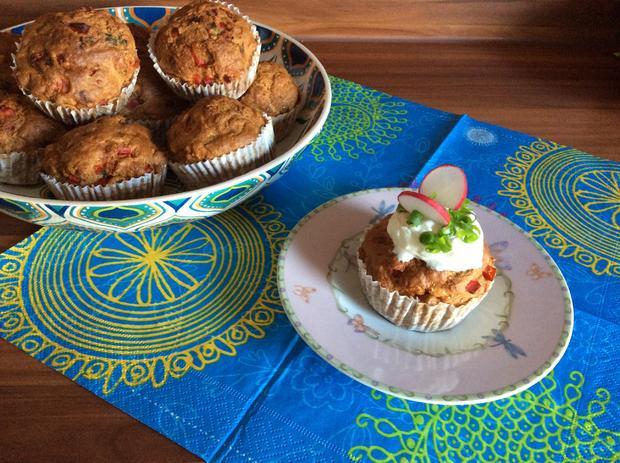 Gemüse Dinkel Muffins - Rezept - Bild Nr. 5910