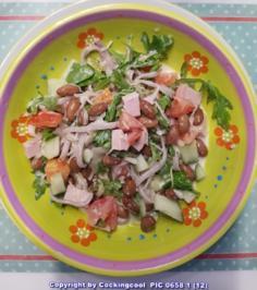 Wachtelbohnen Salat heute als Hauptspeise - Rezept - Bild Nr. 5924