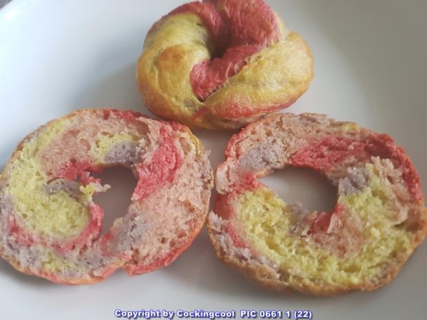 """VEGANE """"Rainbow Bagel`s und das OMNI """"Bagel`s Grundrezept"""" - Rezept - Bild Nr. 5958"""
