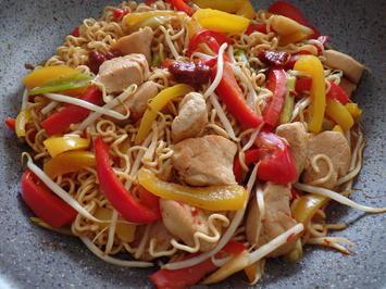 Rezept: Asiatische Nudelpfanne