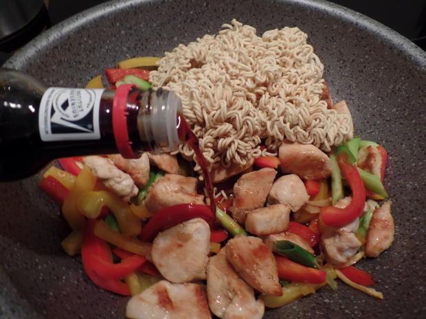 Asiatische Nudelpfanne - Rezept - Bild Nr. 5965