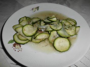 Rezept: Zucchini geschüttelt