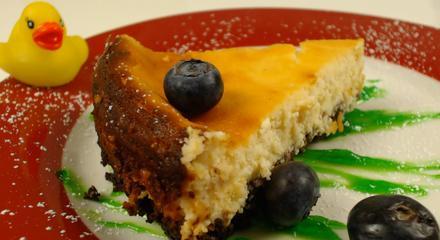 New York Cheesecake mit Limetten auf Schokoboden - Rezept - Bild Nr. 5962