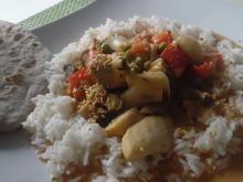 Fisch-Kokos-Curry (scharf) mit Jasminreis und Chapati - Rezept - Bild Nr. 5973