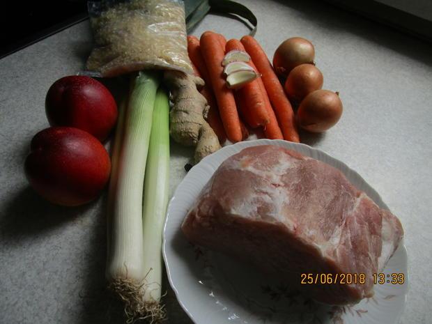 Gemüse-Curry mit Nektarinen und Schweinelachs - Rezept - Bild Nr. 5960