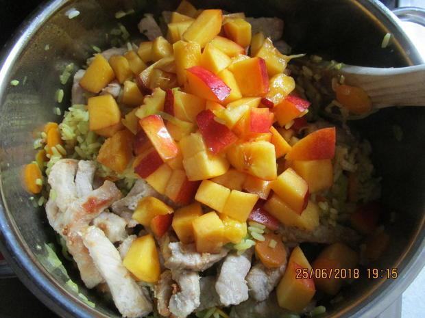 Gemüse-Curry mit Nektarinen und Schweinelachs - Rezept - Bild Nr. 5975