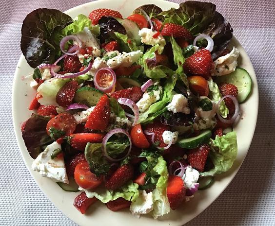 Gemischter Erdbeer-Salat - Rezept - Bild Nr. 5984