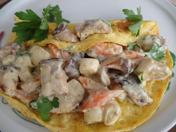 Pilz-Omelette - Rezept - Bild Nr. 6037
