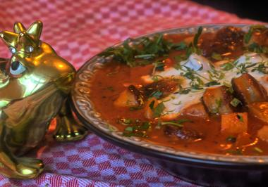 Rezept: Currywurstgulasch
