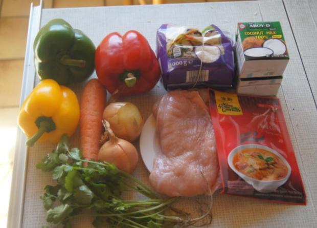Thailändisches rotes Curry mit gelben Basmati Reis - Rezept - Bild Nr. 6038