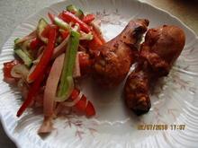 Ein frischer Sommersalat aus Zucchini, Tomaten und Paprika - Rezept - Bild Nr. 6041