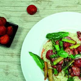 Spargel-Risotto mit Erdbeeren - Rezept - Bild Nr. 2