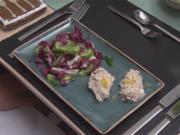 Forellenmousse-Nocken an Radiccio-Gurken-Salat - Rezept - Bild Nr. 2