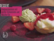 Himbeerküchlein mit weißer Schokolade und Matcha-Eis - Rezept - Bild Nr. 2