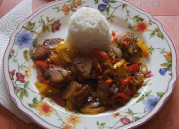 Doppelt gegartes Schweinefleisch mit Basmati Reis - Rezept - Bild Nr. 6060
