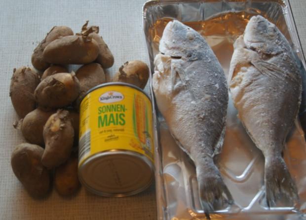 Dorade mit Buttermais und gelben Kartoffelstampf - Rezept - Bild Nr. 6061