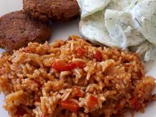 Paprika-Reis und Gurkensalat - Rezept - Bild Nr. 2