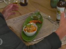 Asiatischer Papaya-Salat mit Scampi und Erdnuss-Pesto - Rezept - Bild Nr. 6061