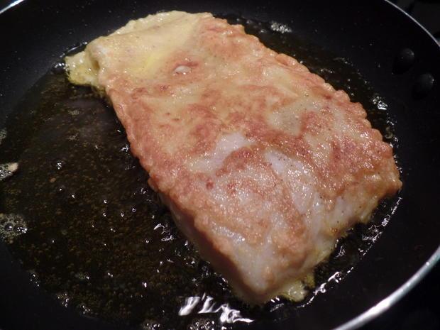 Backfisch mit Erbsenpüree - Rezept - Bild Nr. 6085