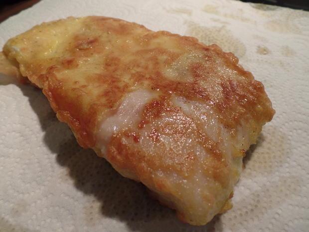 Backfisch mit Erbsenpüree - Rezept - Bild Nr. 6086