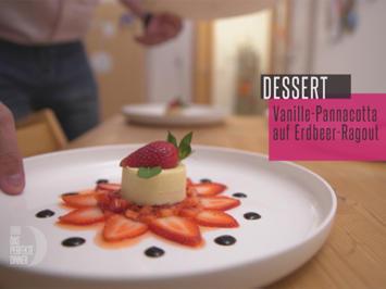 Rezept: Vanille-Panna-Cotta auf Erdbeer-Ragout