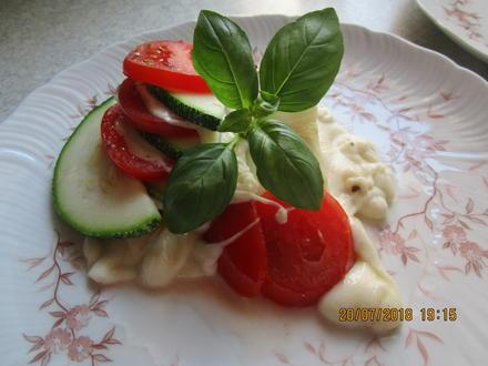 Auflauf: Zucchini-Tomaten-Mozzarella (Feta) - Rezept - Bild Nr. 6096