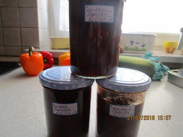 Eingemachtes: Relish aus Zwiebeln und roter Paprika - Rezept - Bild Nr. 6096