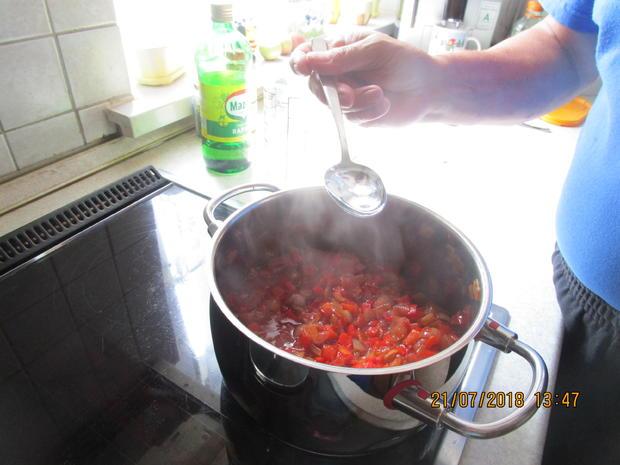 Eingemachtes: Relish aus Zwiebeln und roter Paprika - Rezept - Bild Nr. 6108
