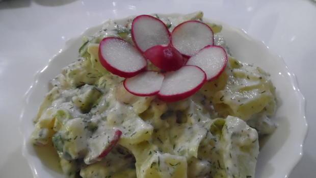 Fisch vom Grill mit Kartoffel-Gurkensalat - Rezept - Bild Nr. 6099
