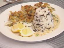 Dorschfilet mit Brotkruste trifft Basmati und Wildreis neben Spinat-Sahne-Soße - Rezept - Bild Nr. 2