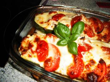 Gefüllte Zucchini mit Käse - Rezept - Bild Nr. 2