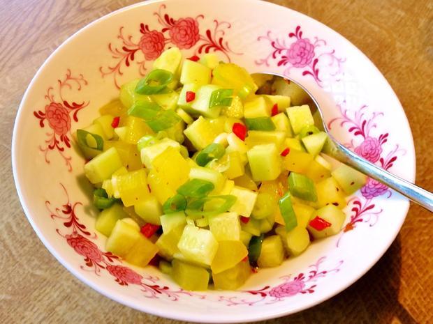 Salat-Variation mit Gurken - Rezept - Bild Nr. 2