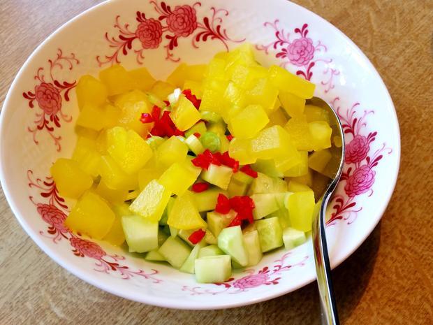 Salat-Variation mit Gurken - Rezept - Bild Nr. 5