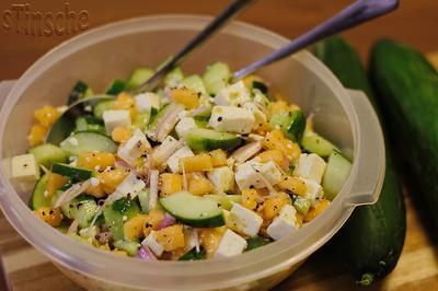 Gurken-Melonen-Feta-Salat - Rezept - Bild Nr. 6150