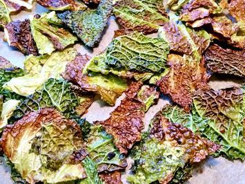 Wirsing-Chips zum Knabbern - Rezept - Bild Nr. 6194