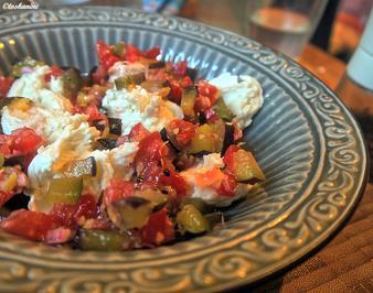 Rezept: Büffelmozzarella mit Tomaten-Pflaumen-Salsa